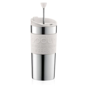 Bodum Travel Press Vacuum Travel Mug / Cafetiere - 0.35L Off White