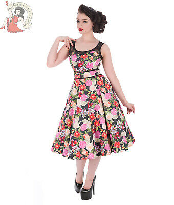 HEARTS and ROSES H/&R LONDON 50s style ORIENTAL FLORAL SHIRT DRESS UK 8-26