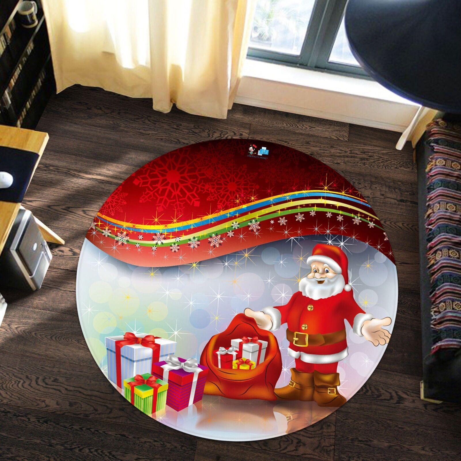 3D 3D 3D Weihnachten Xmas 637 Rutschfest Teppich Matte Raum Runden Elegant Teppich DE 816069