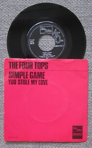Northern-Soul-THE-FOUR-TOPS-Simple-Game-MOTOWN-Holland-Dutch-7-034-Picture-sleeve