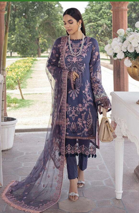 💯Original Ramsha Latest ANDAAZ Luxury Emb Lawn Collection. Unstitched. Z 109