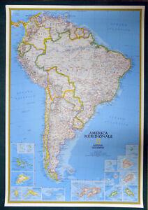 Cartina Geografica Dell America Del Sud.America Del Sud Cartina Geografica National Geographic Scala 1