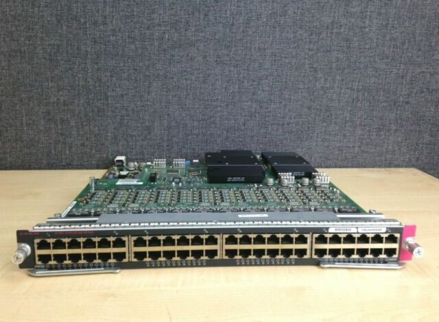 Cisco Catalyst 6500 Series WS-X6148A-45AF 48-Port POE Line Card