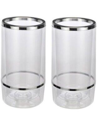 2x Flaschenkühler Weinkühler Kunststoff Sektkühler Doppelwandig Getränkekühler Business & Industrie Ausschank & Bar