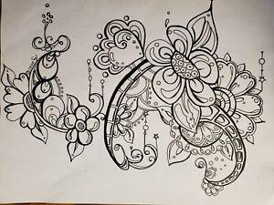 Original Art Pen And Ink Drawing