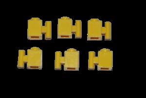 6 Lego Eisenbahn TRAIN 1x1 Stein Steine mit Griff GELB