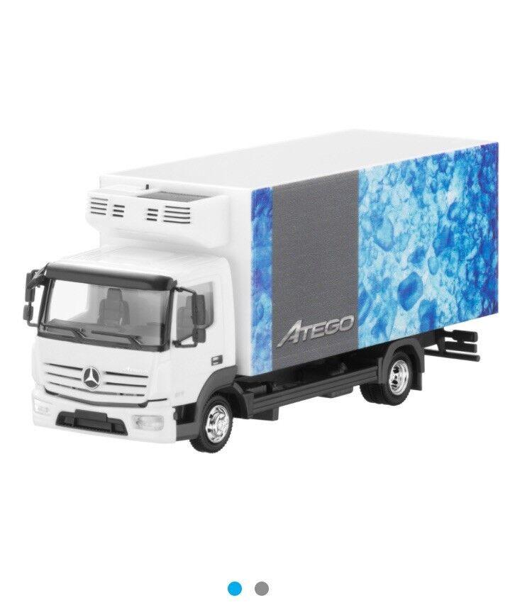 MERCEDES ATEGO 817 2013 FRIDGE 4x2 BOX TRUCK B66004097 1 87 HERPA (DEALER MODEL)