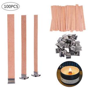100PCS-DOCHT-Holz-Kerzendocht-Kerzen-Docht-Wood-Candle-Wicks-mit-Dochthalter-Kit