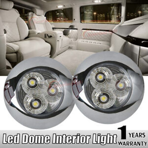 Image is loading 2X-LED-Interior-Ceiling-Light-Boat-C&er-Trailer- & 2X LED Interior Ceiling Light Boat Camper Trailer Car Bus RV Dome ...