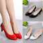 UK-Womens-Low-Mid-Kitten-Heel-Office-Shoes-Lady-Slip-On-Pumps-Court-Work-Shoes-Q