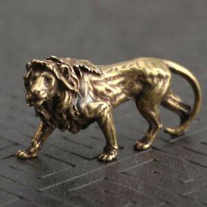UK-Brass Bull Ornament Figurine Miniature Statue Animal Display Home Desk Decors