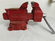 Vintage Wilton 654 Anvil Vise 4 With Pipe Clamp Locking Swivel Base Red Bench