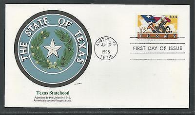 # 2968 TEXAS STATEHOOD CENTENNIAL 1995 Fleetwood First Day Cover