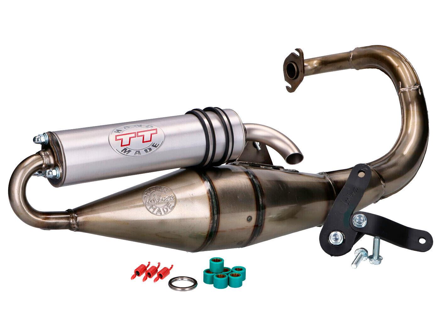 "a 2 tempi tubo di scappamento sportivo da Tuning per Peugeot Speedfight 3 50 e Peugeot Speedfight 4 da 50 ccm LeoVince /""TT Carbon/"""