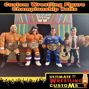 4-X-Conjunto-De-Cinturon-De-Lucha-WWF-WWE-Retro-Para-Hasbro-Mattel-Jakks-figuras