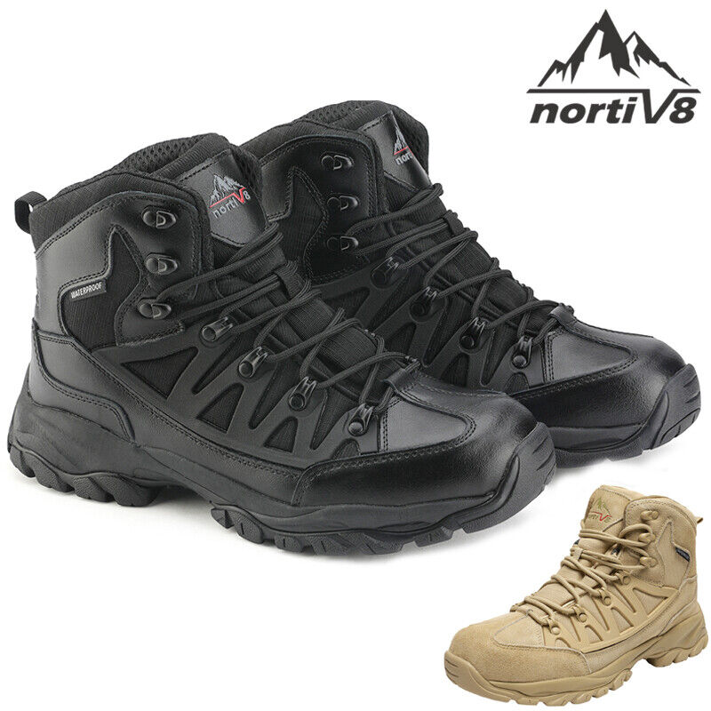 Men's Ankle Waterproof Hiking Boots Lightweight Backpacking Work Shoes Size UK