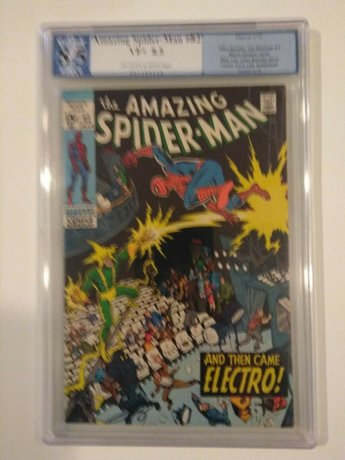 Amazing Spider-Man  82 PGX 8.5 Qualified OW W Pages Marvel Comics