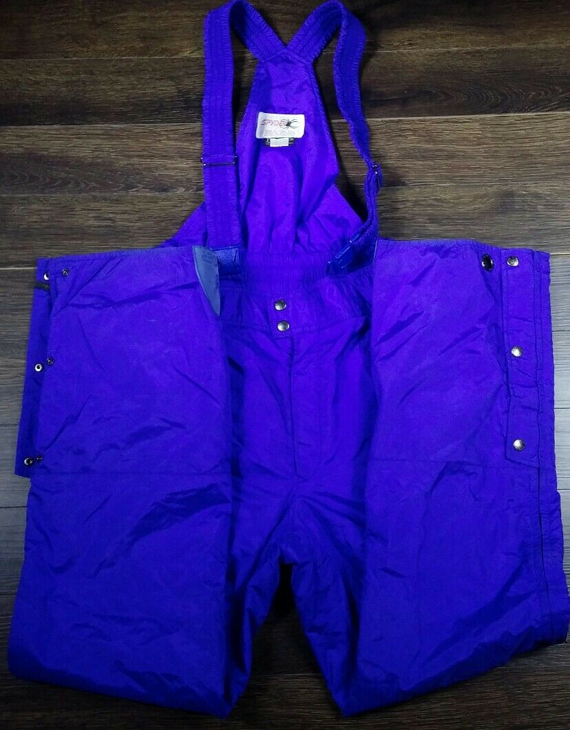 SPYDER  Womens L Ski Snow Bibs O lls Suspender Pant  Insulated Purple Vintage  outlet factory shop