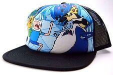 b446f4b3f1305 Cartoon Network Adventure Time Finn vs. Ice Mesh Back Snapback Trucker Cap  Hat