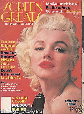 Marilyn Monroe Magazine; Screen Greats, Rare Magazine, 1990 Milton Greene cover