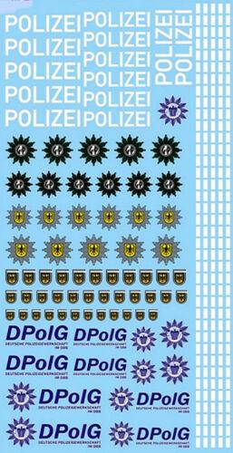 1:24 Decal 190x90 mm Polizei Logos und Gaps Police Germany POL8-1