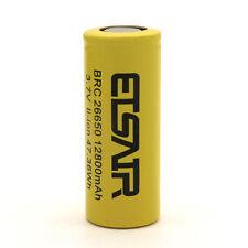 26650 Battery 12800Mah 3.7V Flat Top Li-ion Rechargeable Batteries 47.36Wh