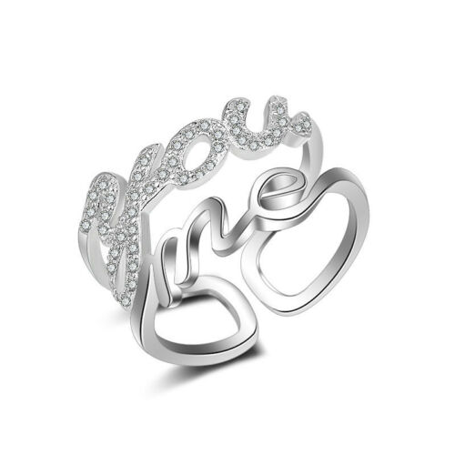 Muye 925 Sterling Silver Love Ring For Women Fashion Jewelry Valentine/'s Day