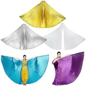 Girls Kids Angel Wings Belly Dance Costume Festivals Fancy Isis Wings Sticks Bag