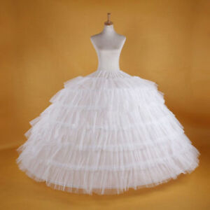 Fashion-WHITE-Big-WEDDING-BRIDAL-PROM-PETTICOAT-UNDERSKIRT-CRINOLINE