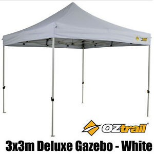Oztrail White Deluxe 3x3 Shade Shelter Top Market Stall