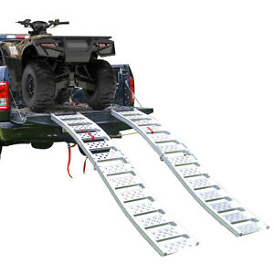 Tru-Grip-Dual-Curved-Aluminum-Folding-ATV-UTV-Ramp