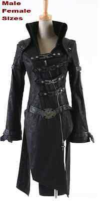 NEW PUNK RAVE Gothic Vampire Jacket Coat Y261 Black ALL STOCK IN AUSTRALIA