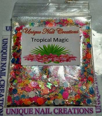 Limited Edition Glitter Mix~Tropical Magic* Comes With Alloy~ Nail Art