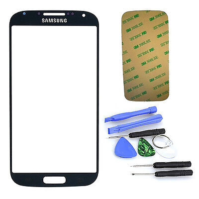 For Samsung Galaxy S4 SIV i9500 Replacement Glass Lens Screen Kit Black + Tools