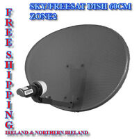 SKY / Freesat Satellite Dish Zone2 - Single LNB (mk4) HD -Sky, Astra, Hotbird