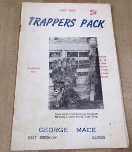1955 56 Trappers Pack Par George Mace West Brooklyn Illinois Catalogue + O Blanc >-afficher Le Titre D'origine