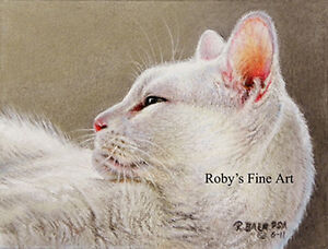 Sleeping-Cat-Art-Print-034-In-A-Minute-034-Giclee-5-034-x7-034-Image-by-Artist-Roby-Baer-PSA