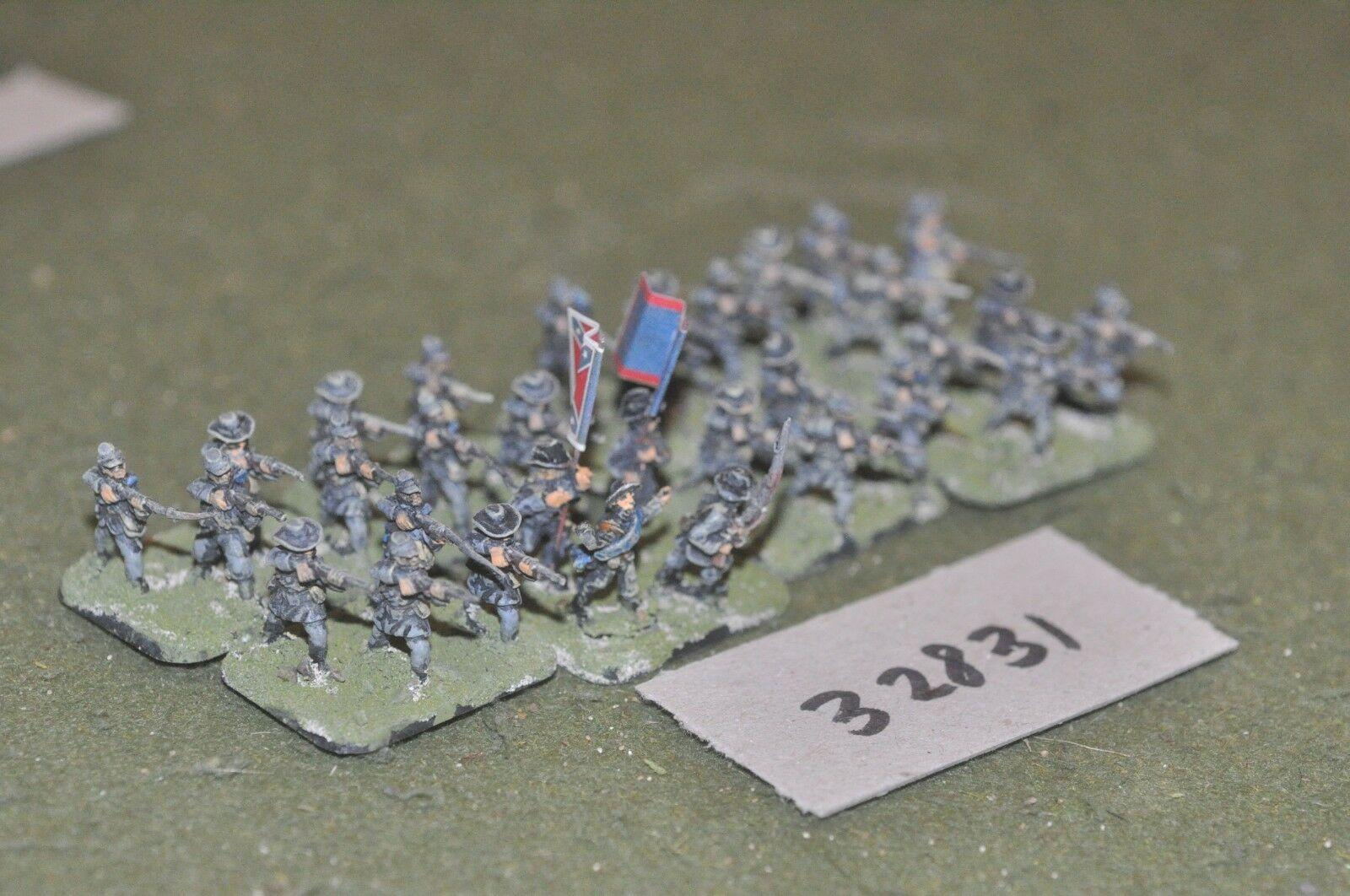 15mm ACW   confederate - regiment 32 figures - inf (32831)