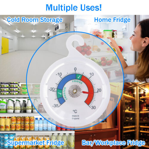 Réfrigérateur Thermomètre-pour Congélateur Réfrigérateur avec Hanging Hook Pack de deux-IN-168