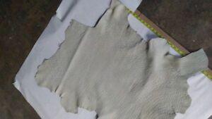 6 Sq.Ft Italian Lambskin Top Quality leather skin hide off white