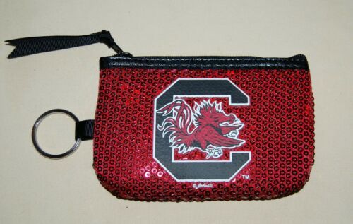 New OFFICIAL South Carolina GAMECOCKS zippered coin purse with FREE SHIPPING !