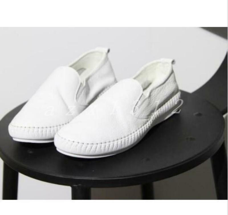 Hot korean women flat shoes real soft leather casual loafers casual walking 2019