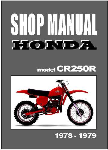 Parts & Accessories HONDA Workshop Manual CR250 CR250R 1978 & 1979 ...