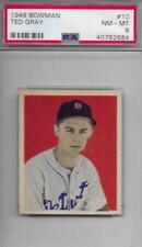 1949 Bowman Ted Gray Detroit Tigers #10 Baseball Card
