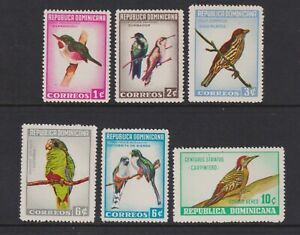 Dominican Republic - 1964, Dominican Birds set - MNH - SG 927/32