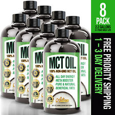 100% PURE MCT Oil (Raise Ketones High Faster C8 & C10 MCTs) - Thermogenic Paleo