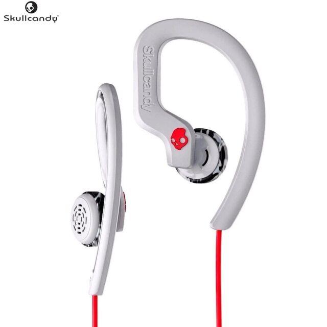 Skullcandy S4CHYK-605 RED/GRAY Chops Buds Flex Sport In-Ear Earphones /Brand New