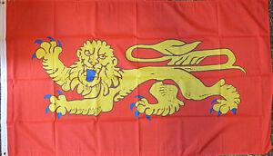Aquitaine-France-Flag-5x3-French-Region-Francais-Heraldic-Heraldry-Medieval-bn