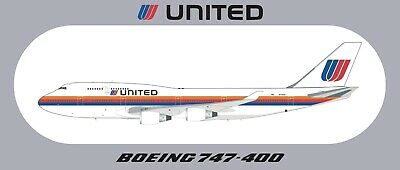 """7.87""""*3.46"""" About 20*8.8CM 1 PC UNITED AIRLINES Sticker"""