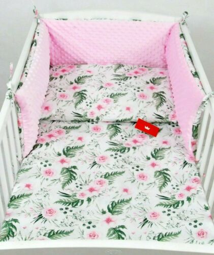 BABY BEDDING SET BUMPER-PILLOW-QUILT COVER to fit COT 3 PIECES NURSERY// MINKY